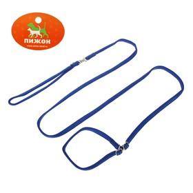 Ринговка из нейлона с металлическими фиксаторами, общая длина 175 см, ширина 1 см, синяя Ош