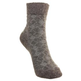 Носки детские шерстяные Фактурная вязка, цвет серый, размер 18
