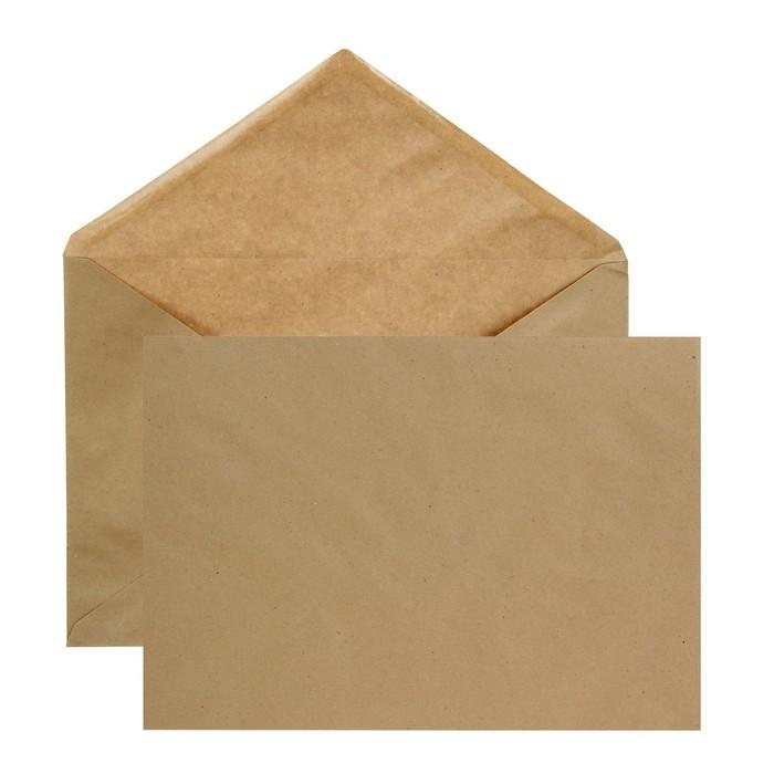 Конверт почтовый крафт С4 229 х 324мм, треугольный клапан, клей, 80 г/м², в упаковке 250 шт.