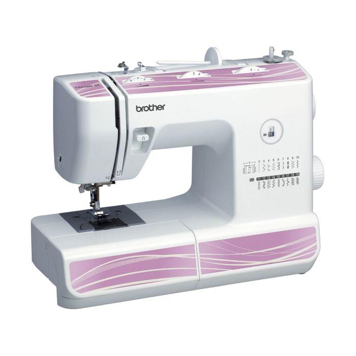 Швейная машина Brother Classic 20, 51 Вт, 19 операций, полуавтомат, бело-сиреневая