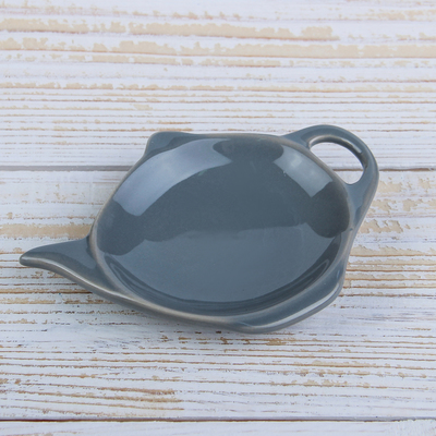 Подставка под чайный пакетик Доляна «Весна», 11,5×8,5 см, цвет серый - Фото 1
