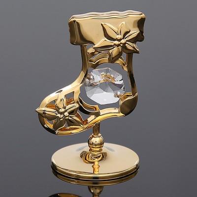 Сувенир «Сапожок», 3×3.5×5.5 см, с кристаллами Сваровски - Фото 1