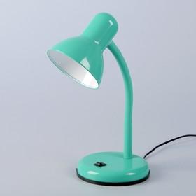 Настольная лампа 1x60W E27 зеленая 14x14x33см
