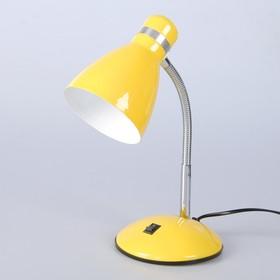 "Настольная лампа ""Элегия"" 1x60W E27 желтая 14,5x14,5x41см"