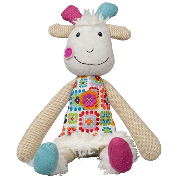 Мягкая игрушка Ebulobo «Козочка Жужу» с погремушкой внутри