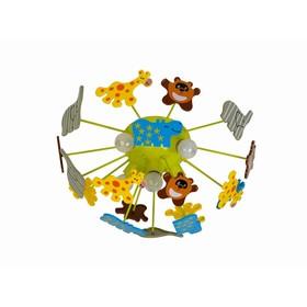 Светильник 'Зоопарк', 5x60Вт E14, цвет зелёный Ош