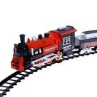 Железная дорога «Классический поезд», свет и звук, с дымом, работает от батареек - Фото 2