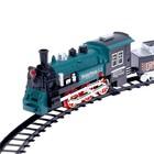 Железная дорога «Классический поезд», свет и звук, с дымом, работает от батареек - Фото 5