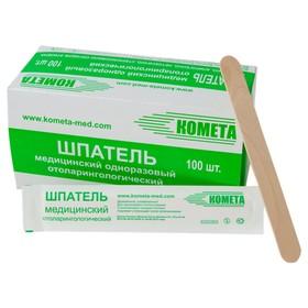 Шпатель медицинский одноразовый деревянный стерильный