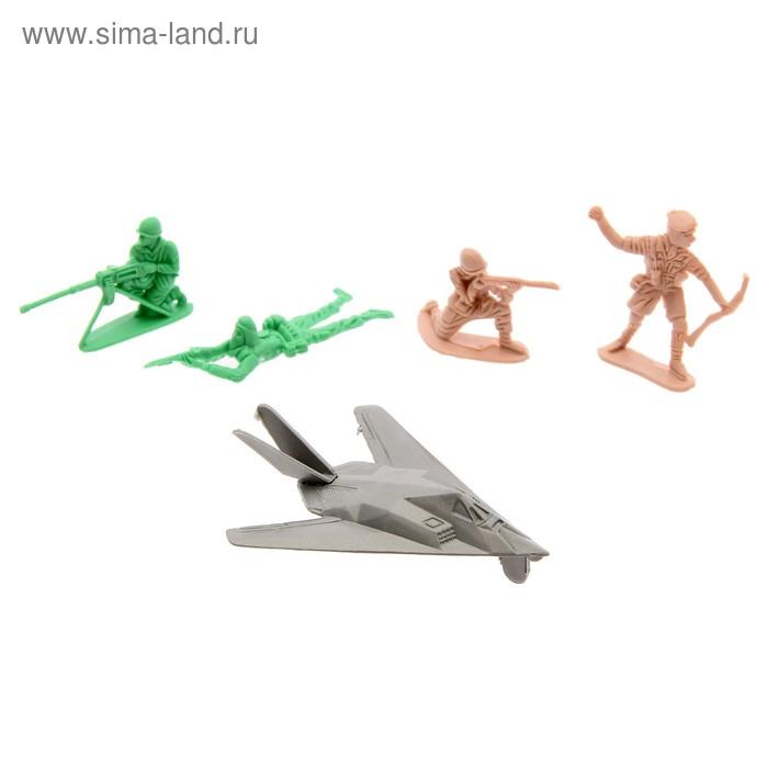 Набор солдатиков с самолётом, МИКС