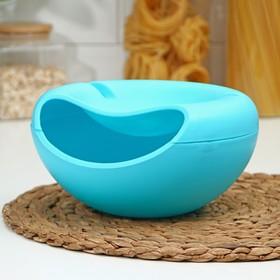Тарелка для семечек и орехов «Плэтэр», 20×11 см, с подставкой для телефона, цвет МИКС