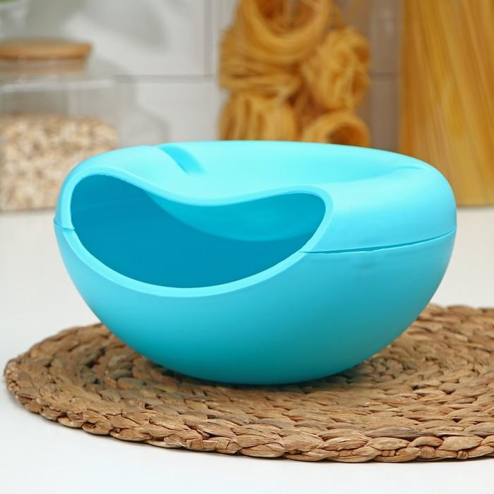 Тарелка для семечек и орехов «Плэтэр», с подставкой для телефона, цвет МИКС