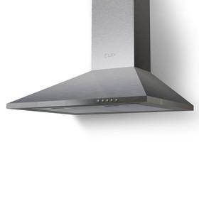 Вытяжка Lex Basic 600 Inox, каминная, 680 м3/ч, 3 скорости, 60 см, серебристая