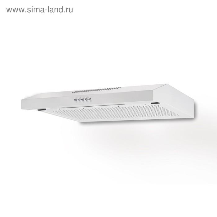 Вытяжка Lex S 600 White, плоская, 440 м3/ч, 3 скорости, 60 см, белая