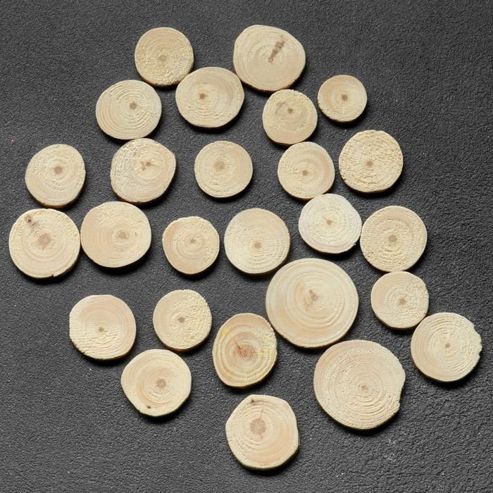 """Спил """"Сосновый"""", круглый, d=3 - 4 см, h=3,5 мм"""