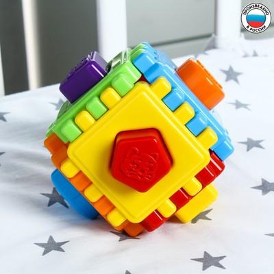 Развивающая игрушка Логический куб «Геометрик» - Фото 1