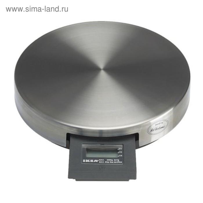 Весы кухонные ОРДНИНГ, электронные, до 3 кг, серебристые
