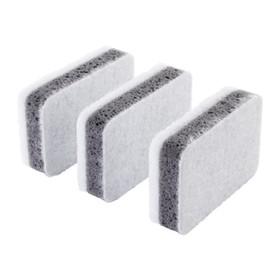 Набор губок СВАМПИГ, 3 шт, цвет серо-белый