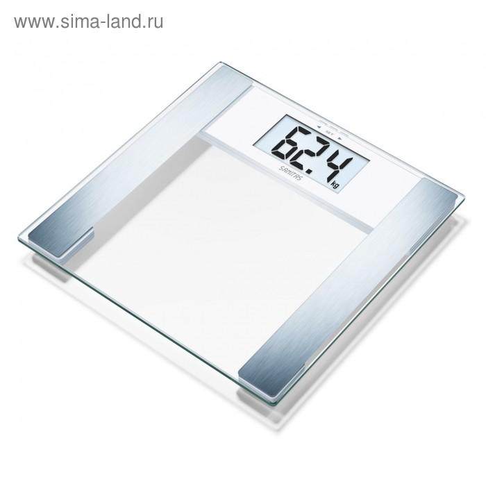 Весы напольные Sanitas SBF48, электронные, до 180 кг, стекло, цвет хром