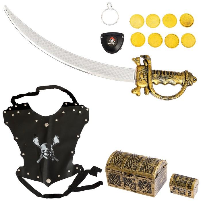 """Набор пирата """"Сундук золота"""", 14 предметов"""