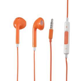 Наушники LuazON, вкладыши, микрофон, оранжевые Ош