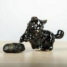 """Статуэтка """"Собака на траве"""" чёрный, 12 см"""