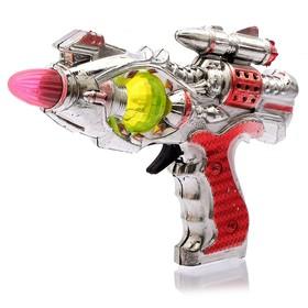 Пистолет «Космический», световые и звуковые эффекты, работает от батареек, цвета МИКС Ош