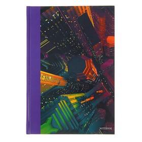 Колледж-тетрадь А5, 100 листов в клетку 'Городской стиль. Небоскребы', твёрдая обложка, глянцевая ламинация, блок 60 г/м2 Ош