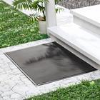 Коврик придверный резиновый «Твист», 40×60 см, цвет чёрный