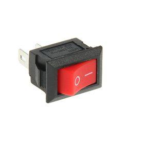 Выключатель клавишный REXANT RWB-101, 3А (2с), 250 В, ON-OFF, Micro, красный Ош