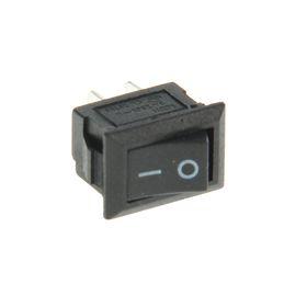 Выключатель клавишный REXANT RWB-101, 250 В, 3А (2с), ON-OFF, Micro, черный Ош