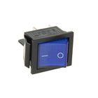 Выключатель клавишный REXANT RWB-502, 16А (4с), 250 В, ON-OFF, синий, с подсветкой