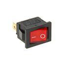 Выключатель клавишный REXANT RWB-206, 250 В, 6А (3с), ON-OFF, Mini, красный, с подсветкой