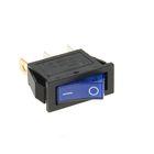 Выключатель клавишный REXANT RWB-404, 250 В, 15А (3с), ON-OFF, синий, с подсветкой