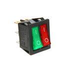 Выключатель клавишный REXANT RWB-511, 15А (6с), 250 В, ON-OFF, с подсветкой, красный/зеленый