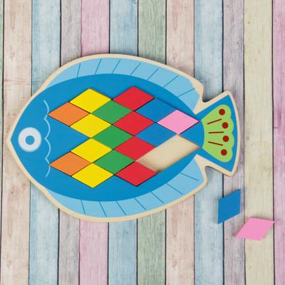 Мозаика-головоломка «Рыбка», ромб: 4 × 2,2 см