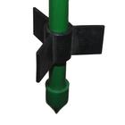 Колышек для подвязки растений, h = 150 см, с фурнитурой, зелёный