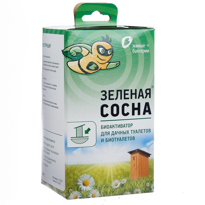 Биоактиватор для дачных туалетов и биотуалетов Зелёная сосна, 300 г