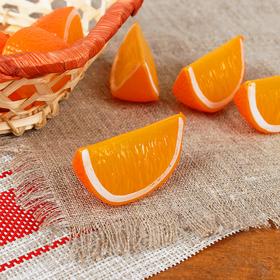 Муляж долька апельсина 5*2,5*2,3 см (цена за 1шт,фасовка по 10 шт) Ош