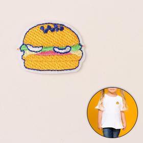 Термоаппликация «Гамбургер», 4,5 × 3,5 см