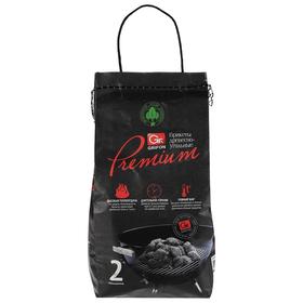 Древесноугольные брикеты Grifon Premium ECO, 2 кг, в мешке /1 (650-041) Ош