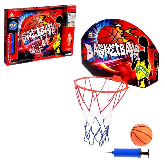 Баскетбольный набор «Штрафной бросок», с мячом, диаметр мяча 12 см, диаметр кольца 23 см.