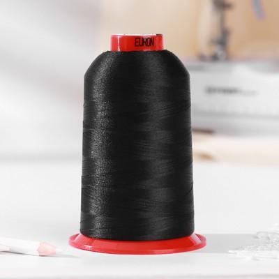 Нитки для вышивания, №130, 5000 м, цвет чёрный №1325