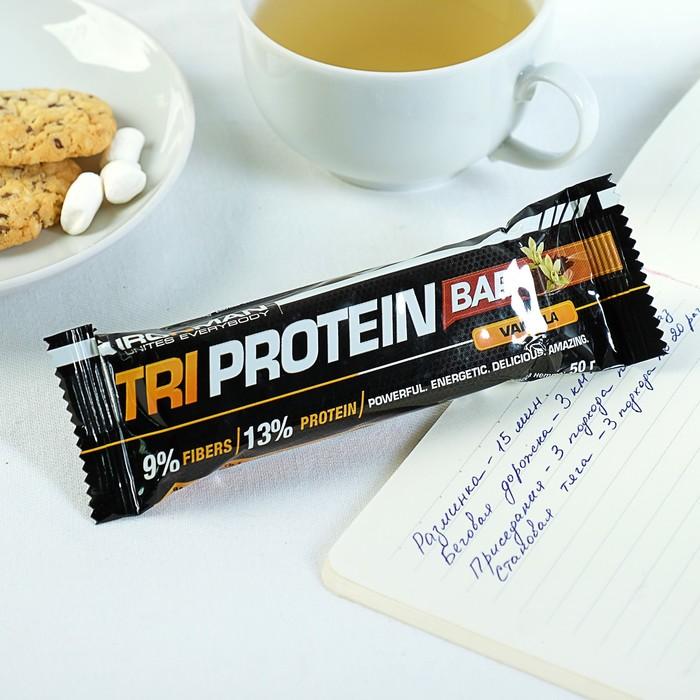Батончик Ironman TRI Protein Bar, ваниль, тёмная глазурь, 50 г