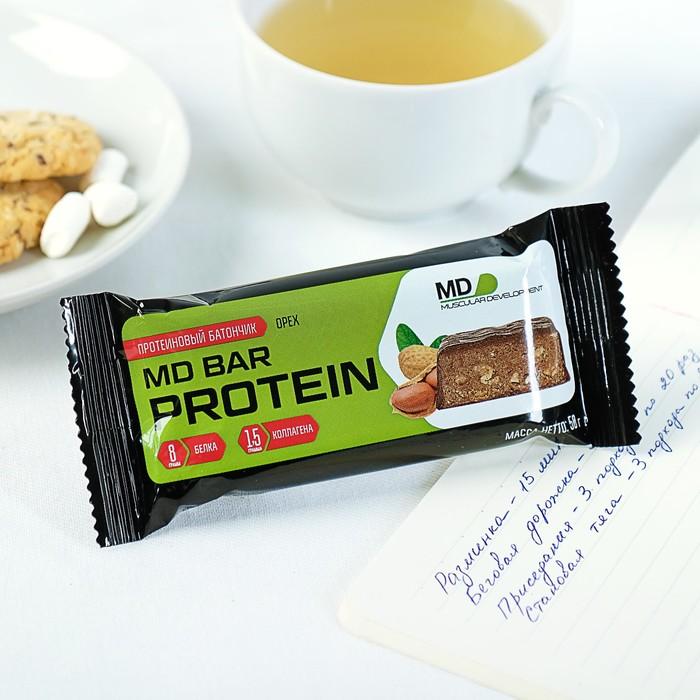 Батончик MD BAR protein с протеином, орех, 50 г