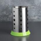 Подставка для столовых приборов 10х16 см, зелёный поддон