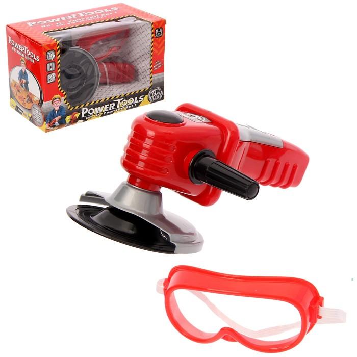 """Углошлифовальная машина """"Вжик"""", с очками, работает от батареек"""