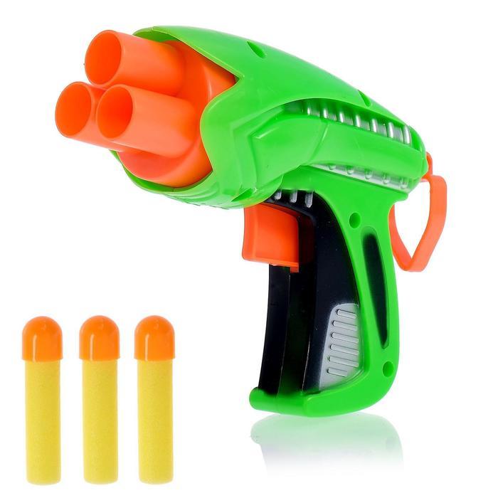 """Пистолет """"Защитник"""" стреляет мягкими пулями, цвета МИКС"""