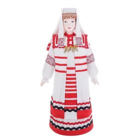 Сувенирная кукла 'Девичий традиционный костюм кон.19 -нач. 20 вв. Вятская губерния' Ош
