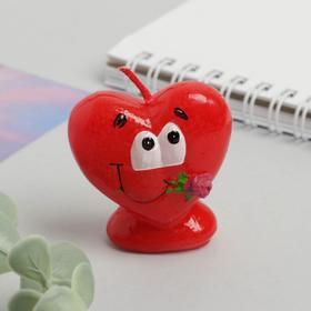 Свеча формовая «Сердце с розой», 5 см